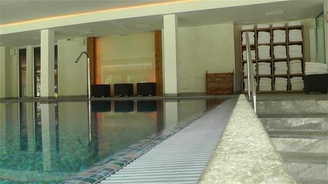 Indoor Swimming Pool 7 Stock Video Footage