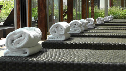 Indoor Wellness Relaxation Area 2 Stock Video Footage