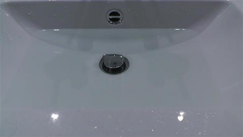 Leak Water from Bathtube Washbasin Timelapse 2 Footage