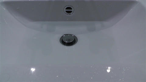 Leak Water from Bathtube Washbasin Timelapse 2 Stock Video Footage
