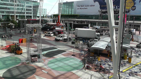 Munich Airport Germany Exterior 2 Stock Video Footage