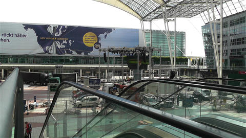 Munich Airport Germany Exterior 4 Stock Video Footage