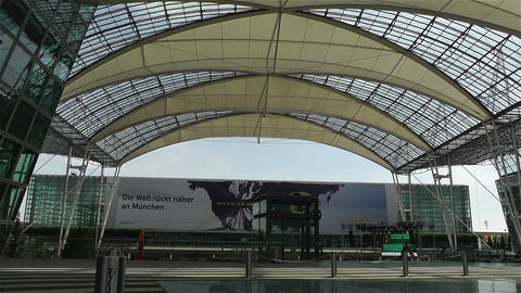 Munich Airport Germany Exterior 8 Stock Video Footage
