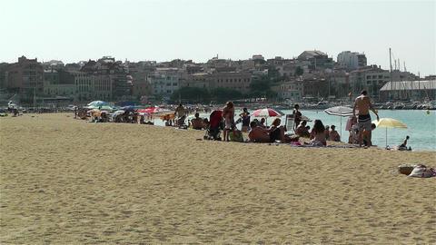 Palamos Beach Costa Brava Spain 1 Stock Video Footage