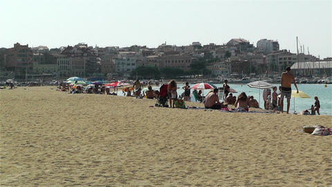 Palamos Beach Costa Brava Spain 1 Stock Video Footage