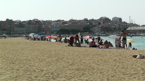 Palamos Beach Costa Brava Spain 1 Footage