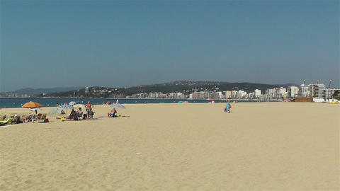 Palamos Beach Costa Brava Spain 3 Stock Video Footage