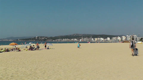 Palamos Beach Costa Brava Spain 3 Footage