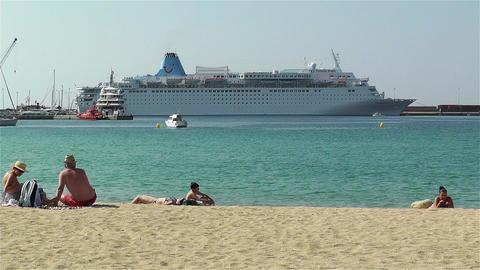 Palamos Beach Costa Brava Spain 5 Stock Video Footage