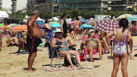 Palamos Beach Costa Brava Spain 11 Stock Video Footage