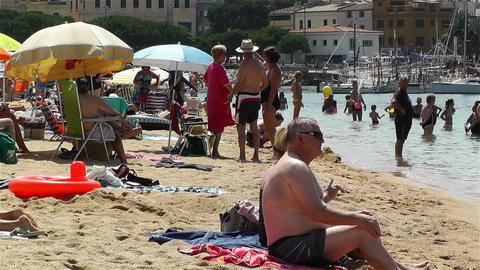 Palamos Beach Costa Brava Spain 13 Stock Video Footage