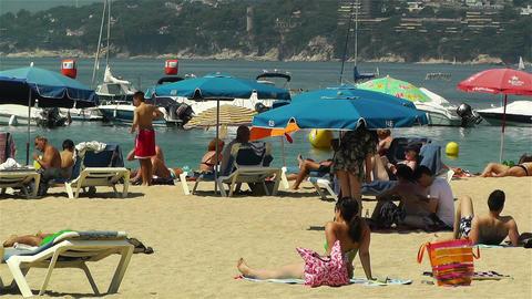 Palamos Beach Costa Brava Spain 17 Stock Video Footage