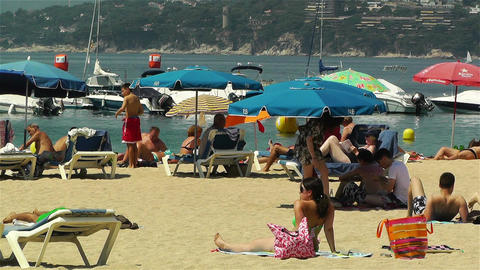 Palamos Beach Costa Brava Spain 17 Footage