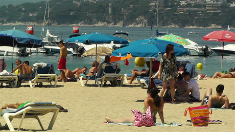 Palamos Beach Costa Brava Spain 17 Stock Video Footage