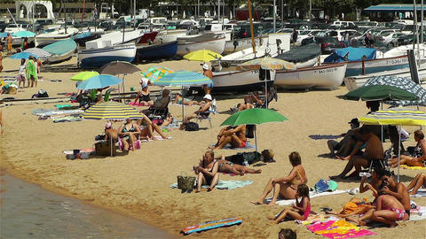 Palamos Beach Costa Brava Spain 32 Stock Video Footage