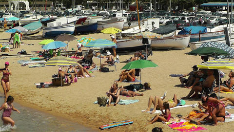 Palamos Beach Costa Brava Spain 32 Footage