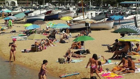 Palamos Beach Costa Brava Spain 32 Stock Video Footage