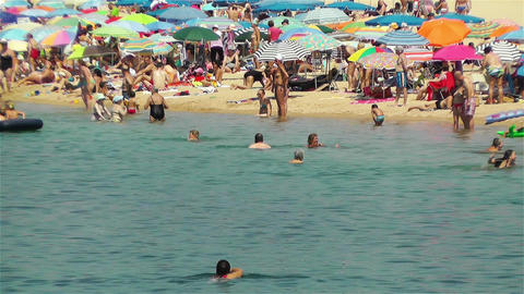 Palamos Beach Costa Brava Spain 34 Stock Video Footage