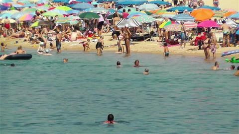Palamos Beach Costa Brava Spain 34 Stock Video Footage