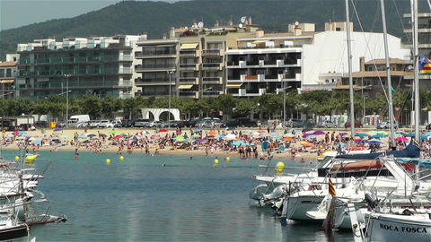 Palamos Beach Costa Brava Spain 36 Footage