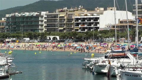 Palamos Beach Costa Brava Spain 36 Stock Video Footage