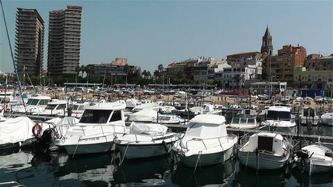 Palamos Costa Brava Spain 2 port Footage