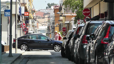 Palamos Street Costa Brava Catalonia Spain 1 Footage