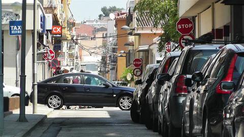 Palamos Street Costa Brava Catalonia Spain 1 Stock Video Footage