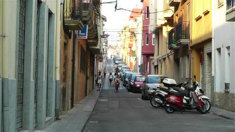 Palamos Street Costa Brava Catalonia Spain 8 Stock Video Footage