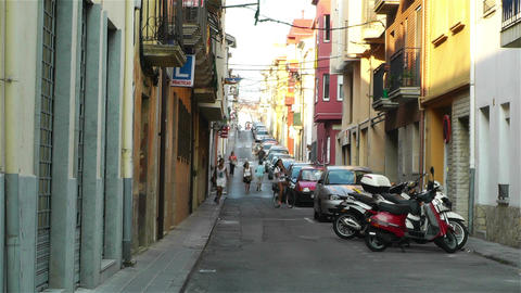 Palamos Street Costa Brava Catalonia Spain 8 Footage