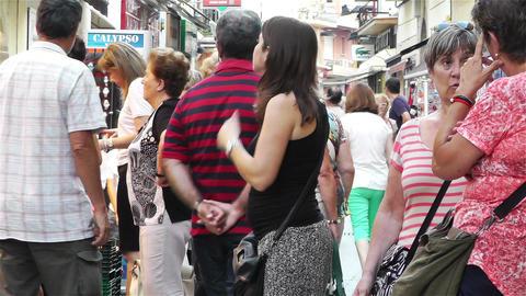 Palamos Street Costa Brava Catalonia Spain 10 Stock Video Footage