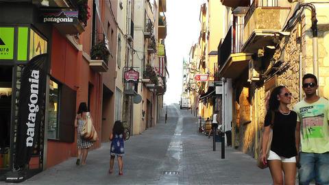 Palamos Street Costa Brava Catalonia Spain 12 Stock Video Footage