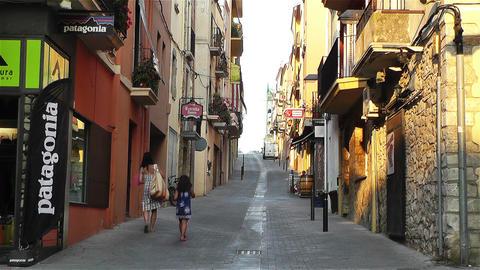 Palamos Street Costa Brava Catalonia Spain 12 Footage