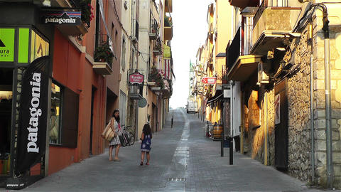 Palamos Street Costa Brava Catalonia Spain 12 Stock Video Footage