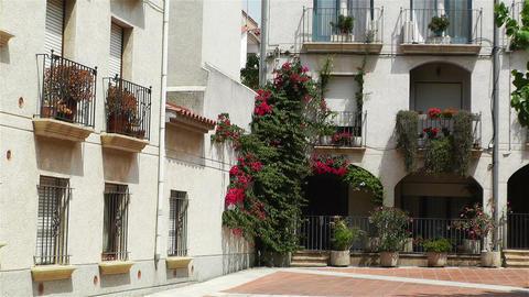 Palamos Street Costa Brava Catalonia Spain 14 Stock Video Footage