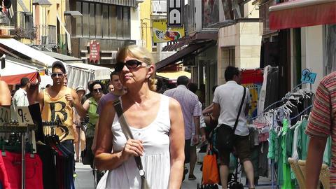 Palamos Street Costa Brava Catalonia Spain 16 Stock Video Footage