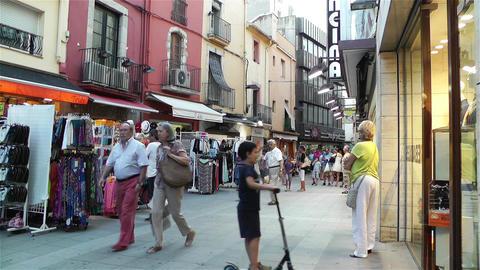 Palamos Street Costa Brava Catalonia Spain 18 Stock Video Footage