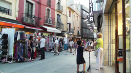 Palamos Street Costa Brava Catalonia Spain 18 Footage