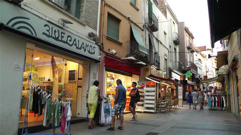 Palamos Street Costa Brava Catalonia Spain 20 Footage