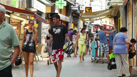 Palamos Street Costa Brava Catalonia Spain 22 Stock Video Footage