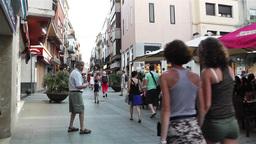 Palamos Street Costa Brava Catalonia Spain 24 Stock Video Footage