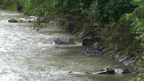 Strong Curent Mountain River 5 Footage