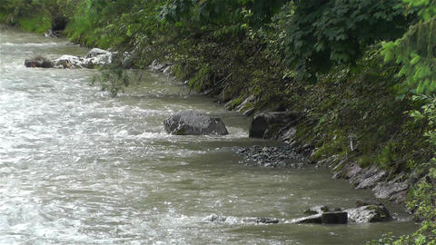 Strong Curent Mountain River 5 Stock Video Footage