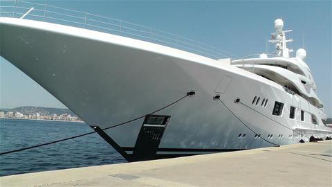 Superyacht Valerie in Port of Palamos Costa Brava  Footage
