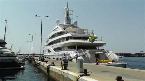 Superyacht Valerie in Port of Palamos Costa Brava Footage