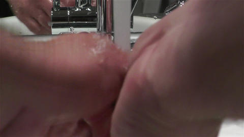 Washing Hands Subjective View Stock Video Footage
