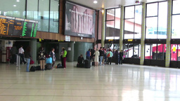 Bus Station 2 Stock Video Footage
