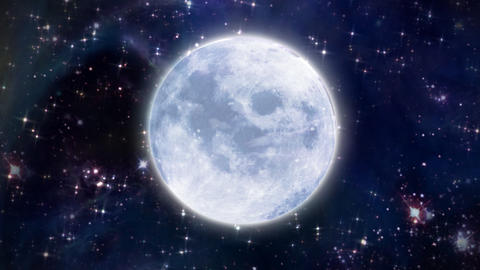 moon in the space large size Stock Video Footage