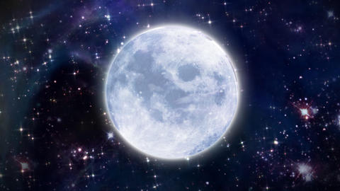 Moon In The Space Large Size stock footage
