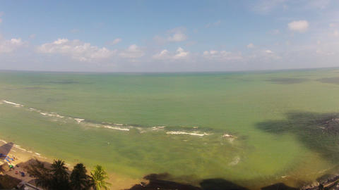 Time-lapse Wide of Beach in Recife Brazil Stock Video Footage